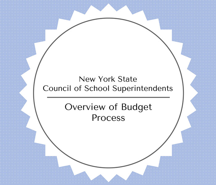 New York State Council of School Superintendents Overview of Budget Process