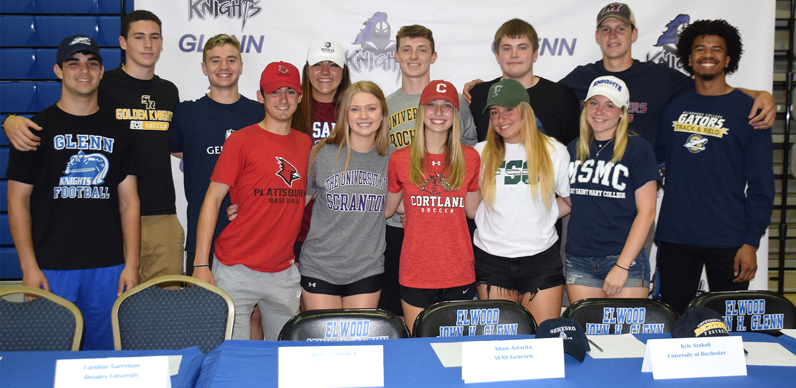 Elwood Knights Commit to Collegiate Sports photo