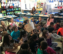 Students Virtually Visited by Author on World Read Aloud Day photo