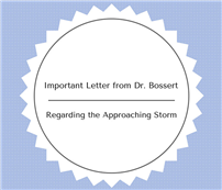 Important Letter from Dr. Bossert Regarding the Approaching Storm thumbnail74456