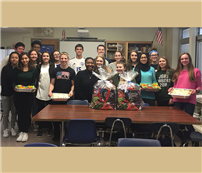 World Language Society Members Cook with Compassion photo