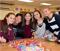 Elwood Students Gather Treats for Troops photo