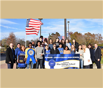 National Blue Ribbon Flag Raised photo