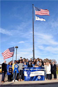 National Blue Ribbon Flag Raised photo 2