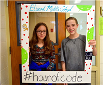 Exposure to the World of Coding at Elwood Middle School photo 2